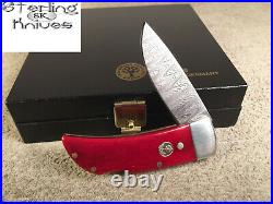2-5/8 Closed Boker Solingen Germany Small Lock-back Damascus Folding Knife