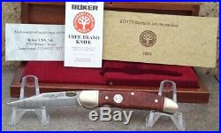 2004 Boker Annual 300 Layer Damascus Aboina Root Folding Knife, Incredible Knife
