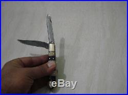 25 Pcs Lot Handmade Double Blade Damascus Pocket Folding Hunting Knife sheath