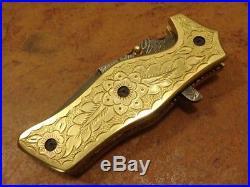 4.7ozair Custom Forge Damascus Steel Tanto Liner Lock Folding Knife Ms-4915