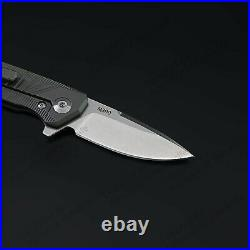 5 M390 Steel Folding Knife Assisted Open Titanium alloy Handle Liner Lock 61HRC