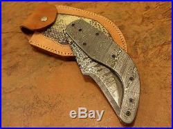 9.0 Kma Cutlery Damascus Steel 1-of-a-kind Liner Lock Folding Knife Ms-2241