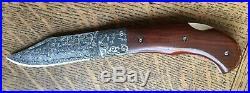 AG Russell Damascus 3.5 Bolstered Lockback Folding knife with Damasteel