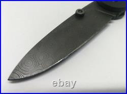 AYCK Custom Folding Knife Handmade Tactical Blade Damascus Steel Titanium Handle