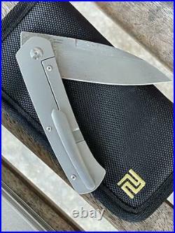 Artisan Centauri Framelock Carbon Fiber Folding Damascus Pocket Knife 1839GDCF