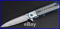 Artisan Cutlery Classic Folding Knife Damascus Stainless Blade Black G10 Handle