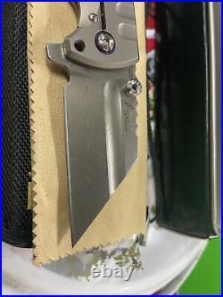 Artisan Cutlery Proponent Damascus Folding Knife