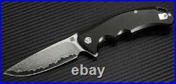 Artisan Cutlery Tradition Folding Knife 4 Damascus Steel Blade Titanium Handle