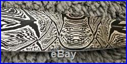 Barry Gallagher (MS) USA Custom Mosaic Damascus Folding Knife- Late 90s NOS