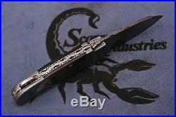 Beautiful Handmade Eye Catching Damascus Steel Folding Knife FREE LEATHER SHEATH