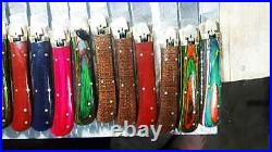 Beautiful handmade Damascus steel huntingLot of 50 folding knives(Limited)