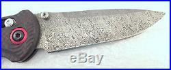 BenchMade 908-161 Stryker Gold Class Folding Knife Damascus Carbon Fiber