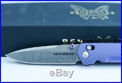 Benchmade 485-171 Valet Gold Class Folding Knife Damascus Titanium Axis #742