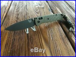 Benchmade 535GRY-1 withCustom Damascus Bead Folding Pocket Knife Green