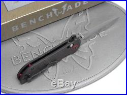 Benchmade 908-161 Stryker Gold Class Folding Knife Damascus Carbon Fiber #1505