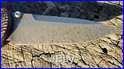 Benchmade 908-161 Stryker Gold Class Folding Knife Damascus Carbon Fiber #1771