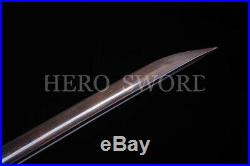 Blue Damascus Folded Steel Japaese Katana Samurai Sword Handmade Combat Knife