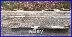 Bob Neal Folding Slip Joint knife, damascus blade & Sheep Horn Handle
