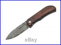 Boker 01bo223dam Exskelibur 11 Damascus Cocobolo Folding Knife