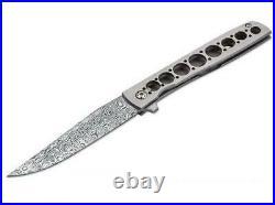 Boker 01bo739dam Urban Trapper Damascus Brad Zinker Titanium Folding Knife