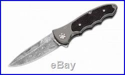 Boker 110129DAM Leopard III Damascus Folding Knife 3.875 Blade