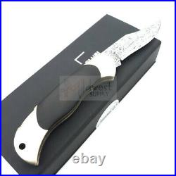 Boker Annual Lockback 2019 Folding Knife 2.8 Damascus Steel Blade Wood Handle
