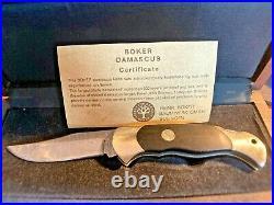 Boker Böker Scout Damast Damascus 300 Lagen Folding Knife Solingen Germany