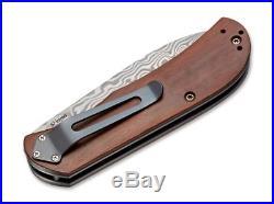 Boker Exskelibur II 2 Folding Knife 2 ¾ Damascus Steel Blade Cocobolo Handle