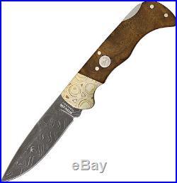 Boker Folding Pocket Knife New Mokume Damascus Lockback 110144DAM