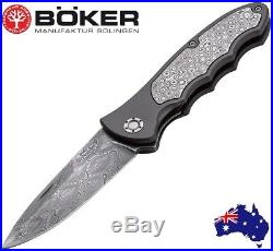 Boker Germany Limited! Leopard Damascus III Linerlock Pocket Folding Knife