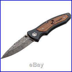 Boker Knives Tirpitz Damascus, (9) Folding Knife 110190DAM