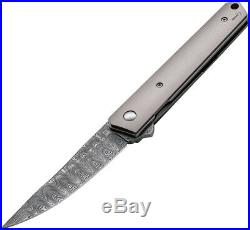Boker Kwaiken Linerlock Titanium Damascus Steel Folding Blade Knife P01BO297DAM