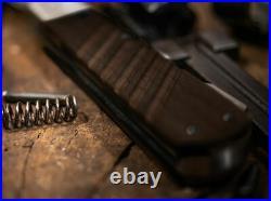 Boker Lock Folding Knife 3.31 Damascus Steel Blade Walnut Wood Handle 110715DAM