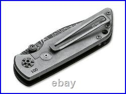 Boker M4 Sherman Folding Knife Black Micarta Handle Damascus Plain BO110662DAM