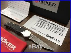 Boker Small Damast Damascus Folding Knife Solingen Germany