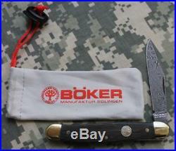 Boker Stockman Classic Folding Pocket Knife 2.9 Damascus Blade 117477DAM NO BOX