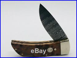 Boker Tree Brand Damascus Thuja 111104DAM Lockback Folding Knife Gentlemans