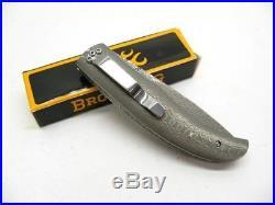 Browning 240 Full Damascus Straight Folder Folding Pocket Knife 3220240
