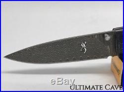Browning Folding Pocket Knife New Damascus Linerlock Mammoth 3220242
