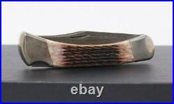 Buck USA 110db Damascus Brown Bone Folding Hunter Knife New With Box