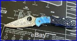 C11JBBP Spyderco Delica Damascus Folding Knife RARE