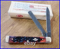 CASE XX New Crimson Bone Handle Ladder Damascus Blade Doctor's Knife/Knives