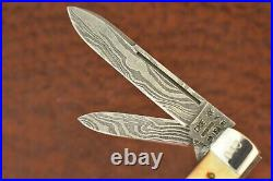 CASE XX USA 1991 THOMPSON CENTER No 2 DAMASCUS STAG JUMBO GUNSTOCK KNIFE (7803)