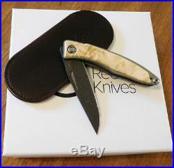 CHRIS REEVE New Box Elder Mnandi with Raindrop Damascus Blade Knife/Knives