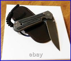 CHRIS REEVE New Left Hand Micarta Small Sebenza 21 Raindrp Damascus Knife/Knives