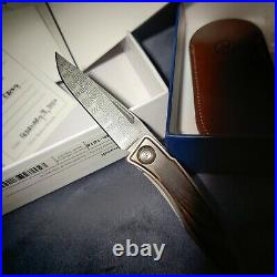 CHRIS REEVE New Macassar Ebony Mnandi Basketweave Damascus Blade Knife/Knives