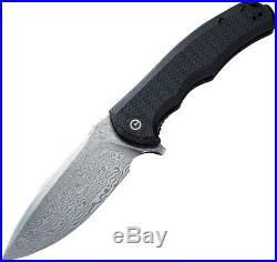 CIVIVI Knives Civc803ds Praxis Black G10 Handle Damascus Folding Knife