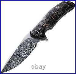 CIVIVI Knives Civc908ds1 Incite Damascus Gold Foil Linerlock Folding Knife