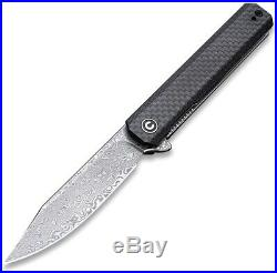 CIVIVI Knives Civc917ds Chronic Linerlock Damascus Steel G10/cf Folding Knife
