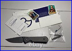 CRK Chris Reeves Damascus Large Sebenza 21 Flipper Folding Pocket Knife (RARE)